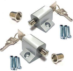 Coardor cerradura de hardware Tornillo de acero inoxidable con hebilla de /ángulo recto de 90 grados con 4 tornillos para puerta corredera